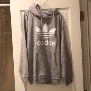 NWT adidas gray trefoil hoodie size xl